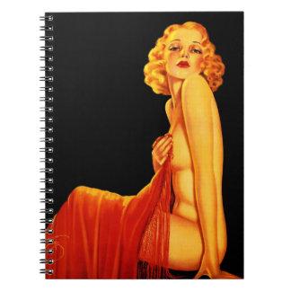 Vintage Retro Billy DeVorss Glamor Pinup girl Spiral Notebook