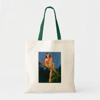 Vintage Retro Billy DeVorss Pinup Girl Tote Bags