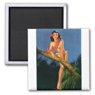 Vintage Retro Billy DeVorss Pinup Girl Fridge Magnet