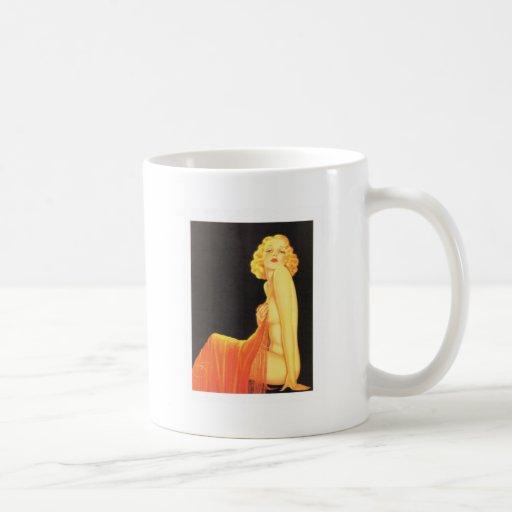 Vintage Retro Billy DeVorss Pinup Girl Classic White Coffee Mug