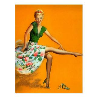 Vintage Retro Billy DeVorss Pinup Girl Postcard