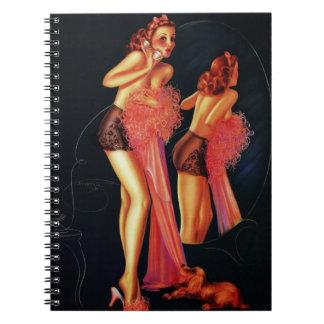 Vintage Retro Billy DeVorss Telephone Pinup girl Journals
