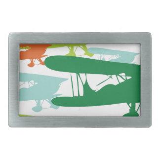 Vintage Retro BiPlane Lonely Sparrow Airplane Desi Belt Buckles