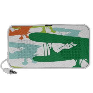Vintage Retro BiPlane Lonely Sparrow Airplane Desi Mp3 Speakers