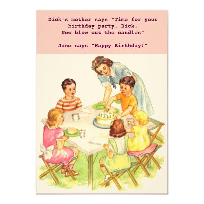 Invitation Cards Birthday as Retro Vintage Card Invitation Old 50er 70er