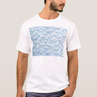 Vintage Retro Blue Floral T-Shirt