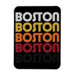 Vintage Retro Boston Premium Flexi Magnet