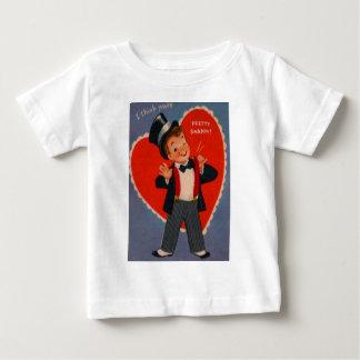 Vintage Retro Boy In Suit Valentine Card Baby T-Shirt