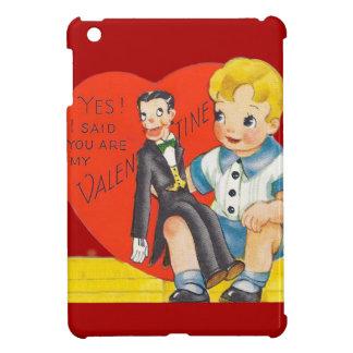 Vintage Retro Boy & Ventriloquist Dummy Valentine iPad Mini Cases