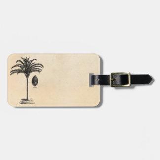 Vintage Retro Brazilian Palm Tree Template Palms Bag Tag