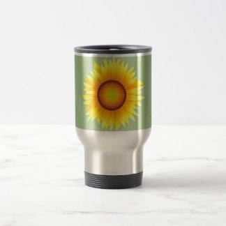Vintage Retro Bright Yellow Sunflower / Mint Green Mugs
