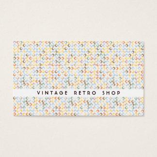Vintage Retro Bubbles No1 Business Card