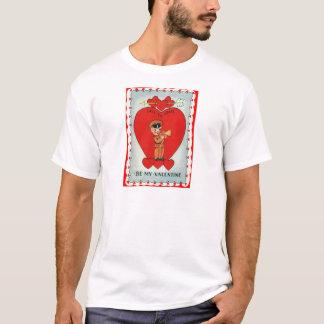 Vintage Retro Bugler Valentine Card T-Shirt