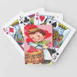 Vintage Retro Butcher Valentine Card Bicycle Poker Cards