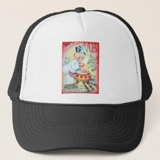 Vintage Retro Butcher Valentine Card Trucker Hat