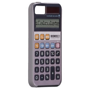 Vintage Retro Calculator iPhone 5/5S Case