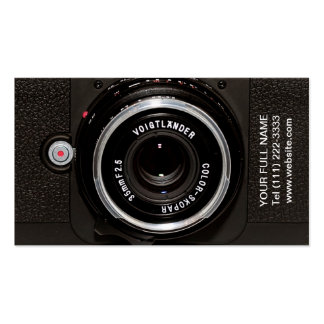 Vintage Retro Camera Double-Sided Standard Business Cards (Pack Of 100)