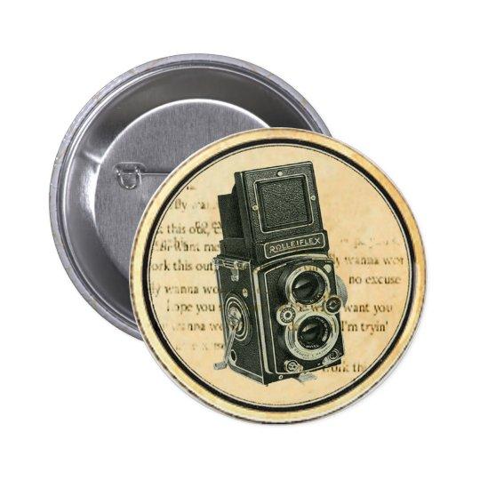 Vintage Retro Camera Photographer Button Pin