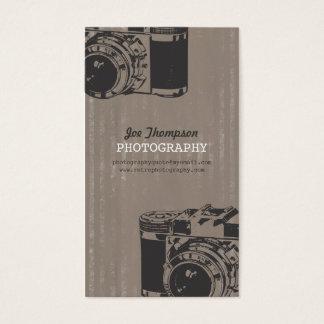 Vintage Retro Camera Photography Business Cards