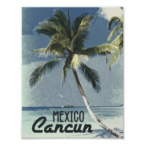 Vintage retro Cancun Mexico