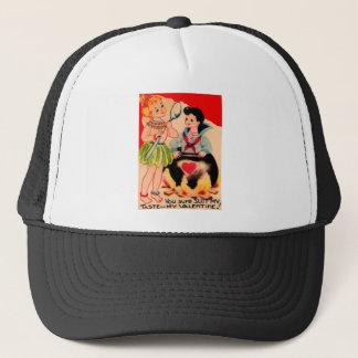 Vintage Retro Cannibal Valentine Card Trucker Hat