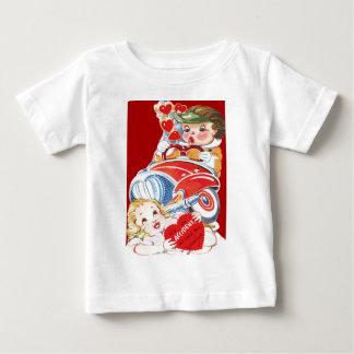 Vintage Retro Car Accident Valentine Card Baby T-Shirt