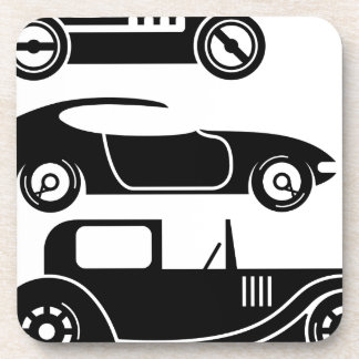 Vintage retro car racing coupe and limo coaster