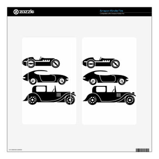 Vintage retro car racing coupe and limo decal for kindle fire