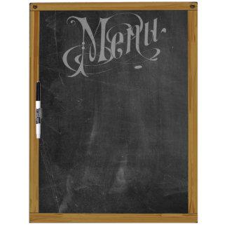 Vintage Retro Chalkboard Typography Menu (L) Dry-Erase Board