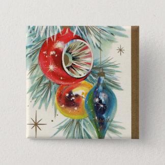 Vintage retro Christmas Holiday bulbs button