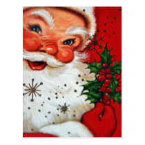 Vintage retro Christmas Holiday Santa postcard
