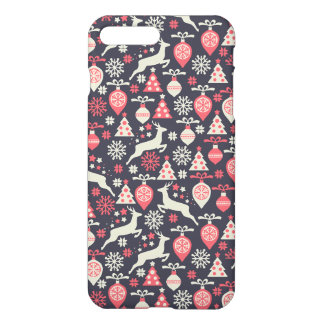 Vintage Retro Christmas Pattern Holiday iPhone 7 Plus Case