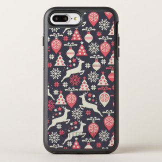 Vintage Retro Christmas Pattern Holiday OtterBox Symmetry iPhone 7 Plus Case