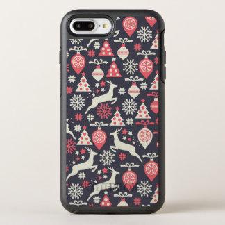Vintage Retro Christmas Pattern Holiday OtterBox Symmetry iPhone 8 Plus/7 Plus Case