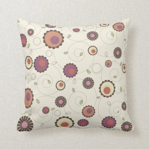Vintage Retro Circles Pillow