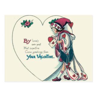 Vintage Retro Clown Valentine Card
