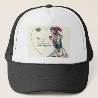 Vintage Retro Clown Valentine Card Trucker Hat