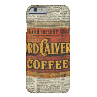 Vintage Retro Coffee Can On Old Encyclopedia Page Barely There iPhone 6 Case