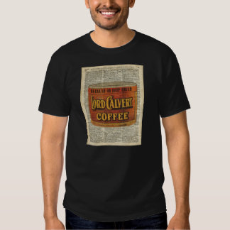 Vintage Retro Coffee Can On Old Encyclopedia Page Tee Shirt