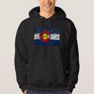 Vintage Retro Colorado State flag Hoodie