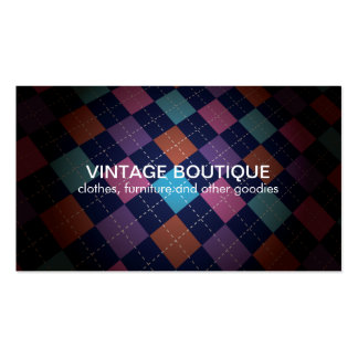 Vintage Retro Colorful No2 Business Card