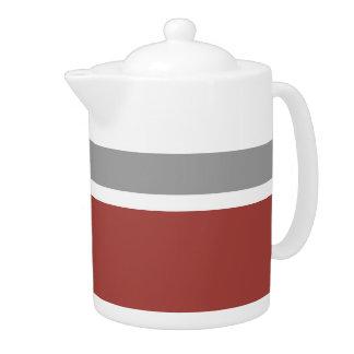 Vintage Retro Colorful Stripes Art #23 Teapot