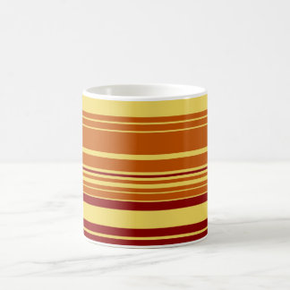 Vintage Retro Colorful Stripes Art Classic White Coffee Mug
