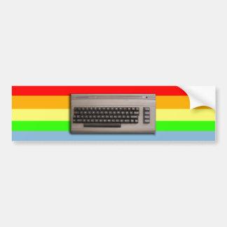 Vintage Retro Computer Keyboard ? Bumper Sticker