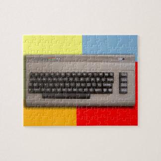 Vintage Retro Computer Keyboard ? Jigsaw Puzzle