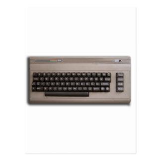 Vintage Retro Computer Keyboard ? Postcard