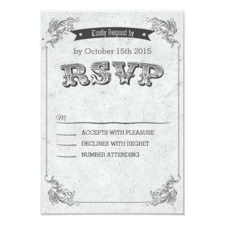 Vintage Retro congregation wedding RSVP Card
