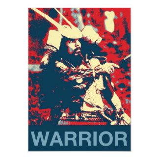 Vintage Retro Cool Samurai Warrior Martial Artist Card