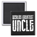 Vintage Retro Cool Uncles : World's Greatest Uncle 2 Inch Square Magnet