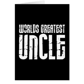 Vintage Retro Cool Uncles : World's Greatest Uncle Card